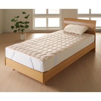 ディノス オンラインショップクイーン(家族の寝具のニオイ対策に!フレッシュ&ドライ消臭除湿敷きパッド 敷きパッド+枕パッドのお得なセット)ブルー
