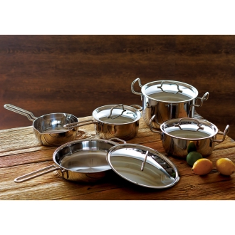 """With 2 awards! Dr. Hattori stainless steel 7-story structure pot """"geo"""" Basic 5-piece set"""