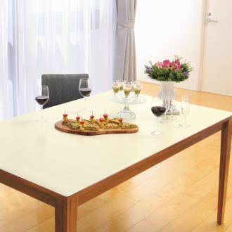 90 × 90cm within the order this tone leather table mat