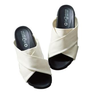 la gomma / Ragonma cross design sandals