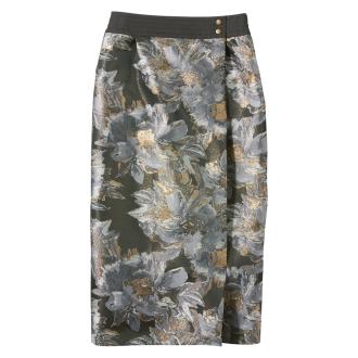 スペイン製生地 ジャカードタイトスカート