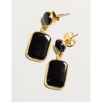 YUKIKO OKURA / Yukiko Okura Onyx design earrings