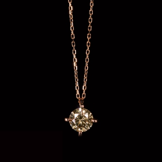 K18PG 0.5ct Brown diamond pendant