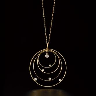 K10 0.25ct diamond sparkle pendant
