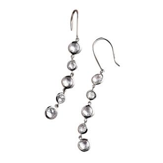 K10 White Topaz Earrings