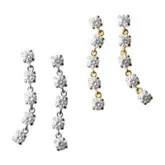 K18 · K14 cubic zirconia earrings