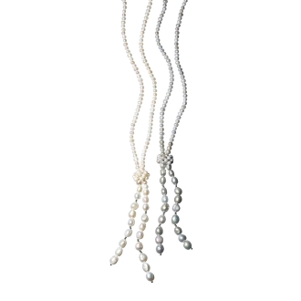 Freshwater baroque pearl fringe necklace