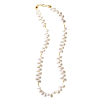 Freshwater Pearl frills design necklace