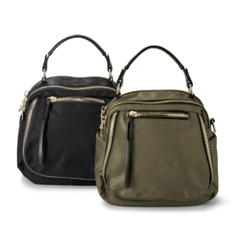 Nylon zip Tsukai handbags