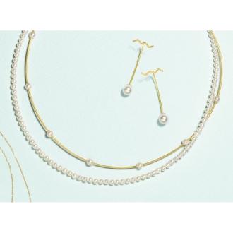 K10 Akoya baby pearl choker necklace
