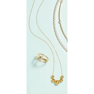 K18 plain ball design necklace