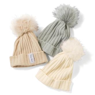 Bohemiana/ボヘミアーナ フェイクファーポンポンニット帽(フィンランド製)