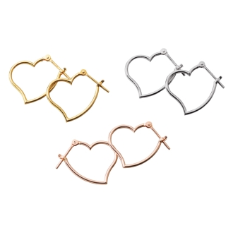 K18 · K14 Heart Earrings