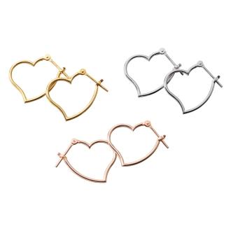 K18 · K14 Heart Earrings