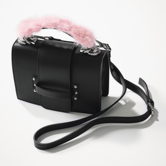 Moronero / Moronero fur handle bag (made in Italy)
