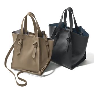 一枚革デザインバッグ