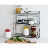 Compact  Stainless shelf Spice rack.