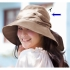 It doesn't fly by a wind!  Broad-brimmed  UV cut  Hat  Hat [Linen  Hemp  UV cut 99%  Blind  Sunburn prevention].