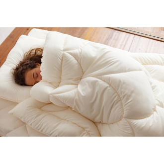 セミダブル3点セット (あったか洗える清潔寝具 お得な2枚合わせベッド用セット)