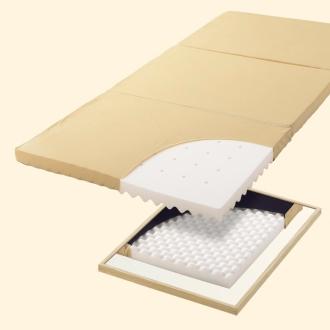 厚さ4cm セミダブル (3つ折り穴あきマットレス)