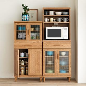 北欧風 コンパクト カフェ 収納家具シリーズ カップボード ロー