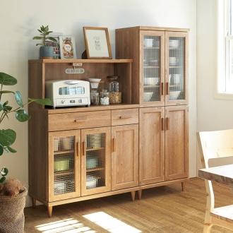 北欧風 コンパクト カフェ 収納家具シリーズ カップボード ハイ