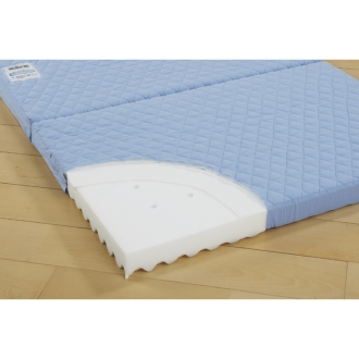 持ち運びがラクな2段ベッド用 除湿3つ折りマットレス 厚さ7cm