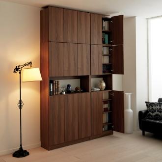 飾り棚付きブックシェルフ 本体 幅90高さ180cm