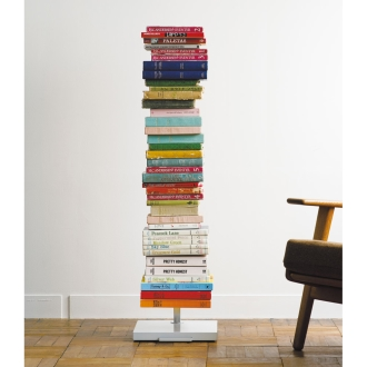 キャスター付きブックタワー 高さ111.5cm