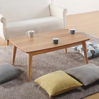 オーク天然木北欧風こたつテーブル 長方形・105×65cm
