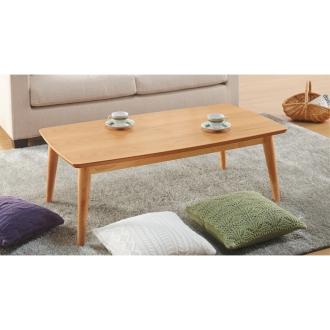オーク天然木北欧風こたつテーブル 長方形・120×65cm