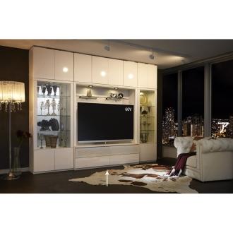 美しくディスプレイできる収納システム テレビボード 幅160cm[52~60インチ型液晶テレビ収納可能]