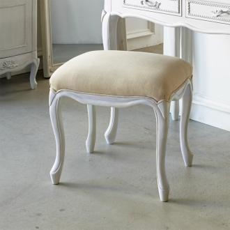 シャビーシック ホワイト フレンチ収納家具シリーズ スツール
