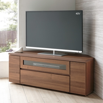 天然木調お掃除がしやすいコーナーテレビ台 幅120cm