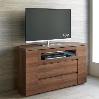 天然木調お掃除がしやすいコーナーテレビ台 ハイタイプ 幅120cm