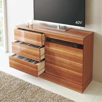 光沢引き戸テレビボード テレビ台 幅89cm