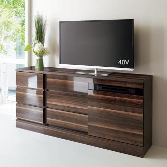 光沢引き戸テレビボード テレビ台 幅119cm