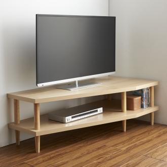 どの場所からでもテレビが見やすいコーナーテレビ台 幅120cm 右コーナー用(右側壁用)