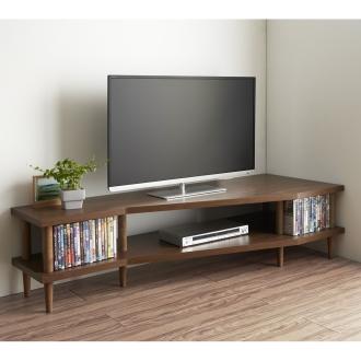 どの場所からでもテレビが見やすいコーナーテレビ台 幅160cm 右コーナー用(右側壁用)