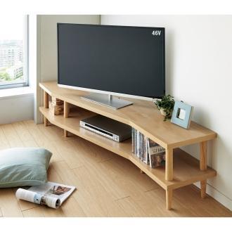 どの場所からでもテレビが見やすいコーナーテレビ台 幅160cm 左コーナー用(左側壁用)
