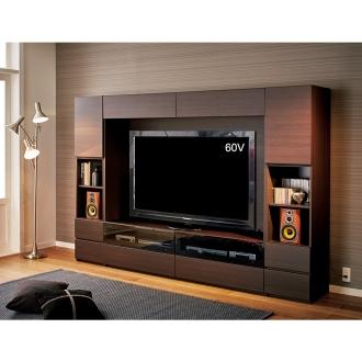 【パモウナ社製】毎日の使いやすさを考えた収納システム テレビ台幅180cm 大型テレビ対応