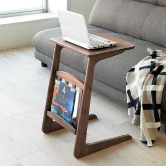 天然木ソファサイドテーブル 幅40cm