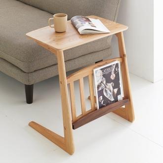 天然木ソファサイドテーブル 幅55cm