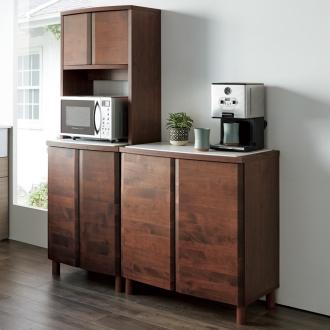 アルダー天然木アールデザインシリーズ キッチンボード 幅60cm