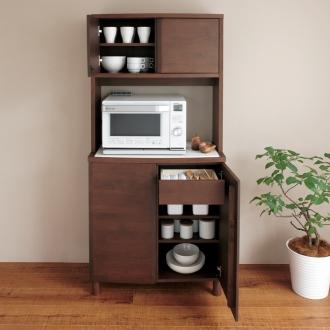 アルダー無垢材キッチン収納 アールシリーズ キッチンボード 幅80cm