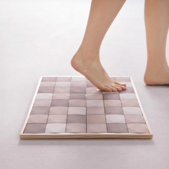 鸡蛋瓷砖浴室防滑垫(美浓瓷砖天然木框架)