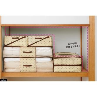 ディノス オンラインショップ1200円お得な3個組(防ダニ素材の布団収納ケース 布団一式用)