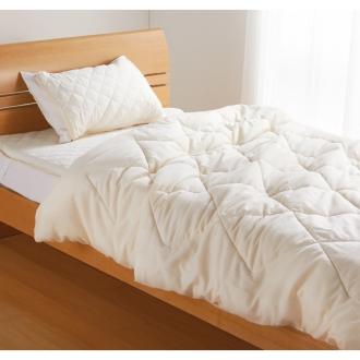 ディノス オンラインショップセミダブル3点セット(テンセル TM & ガーゼ寝具シリーズ お得な掛け敷きセット(ピローパッド付き))キナリ