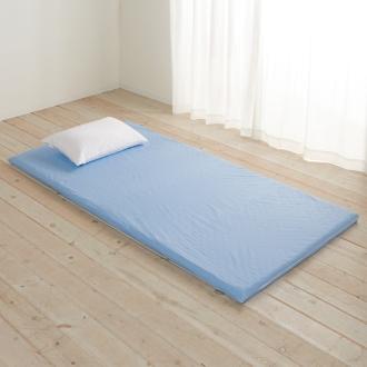 2段ベッド用(4つ折り軽量敷布団 専用カバー付きセット)