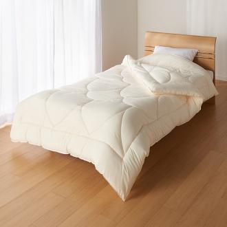 あったか洗える清潔寝具 2枚あわせ掛け布団 セミダブルロング